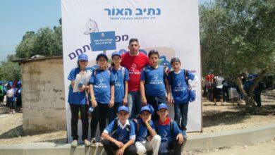 "Photo of مجموعة طلاب مؤسسة النجاح تشارك في حفل انهاء مشروع ""الطريق الى النور""."